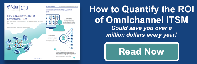 How to quantify the ROI of omnichannel ITSM