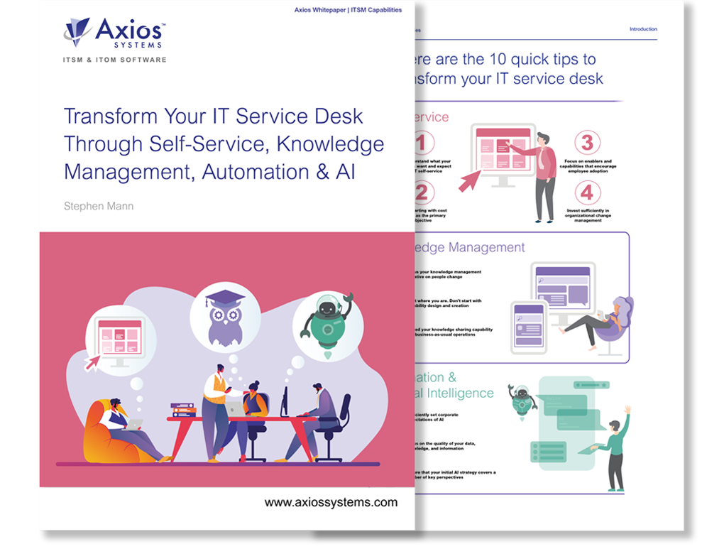 Transform Your IT Service Desk Through Self-Service, Knowledge Management, and Automation & AI