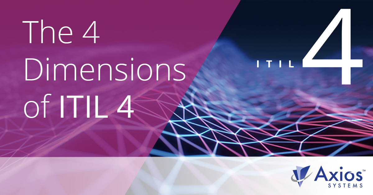 What are the Four Dimensions of ITIL 4?