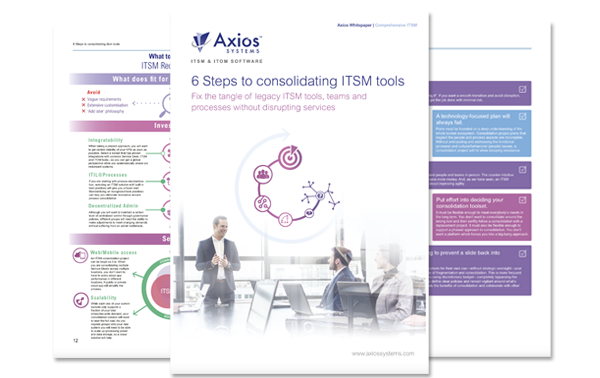 ITSM toolset consolidation: consolidating what?